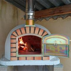 Outdoor Kitchen Pizza Oven Design Cheap Modern Cabinets Authentic Ovens Lisboa Brick Wood-fired ...