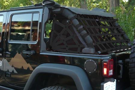 Dirtydog 4X4 Rear Spider Netting for 0717 Jeep Wrangler