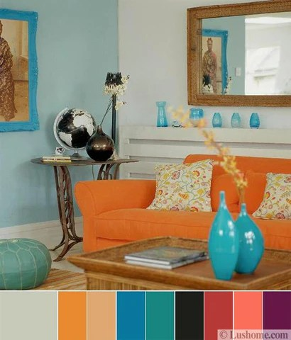 orange living room decorating ideas clipart images 8 modern color trends 2018 for creating vibrant interior bright palette turquoise blue pink purple and gray