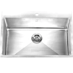 Stainless Kitchen Sinks Cost To Replace Cabinets 16 Gauge Steel Pearl Canada Palo Pdr