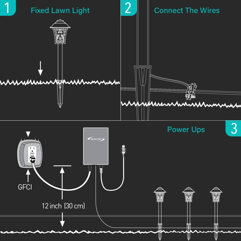 malibu 1w outdoor low voltage landscape lighting