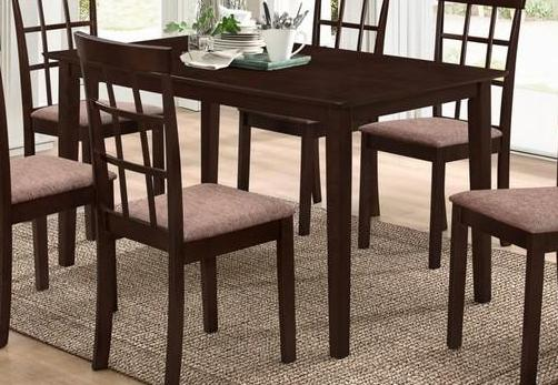 dining table only wooden with espresso finish t 1047 1048