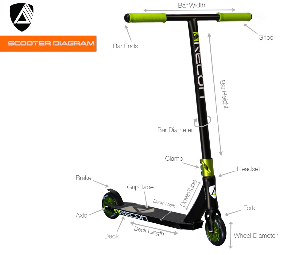 hight resolution of pro scooter diagram