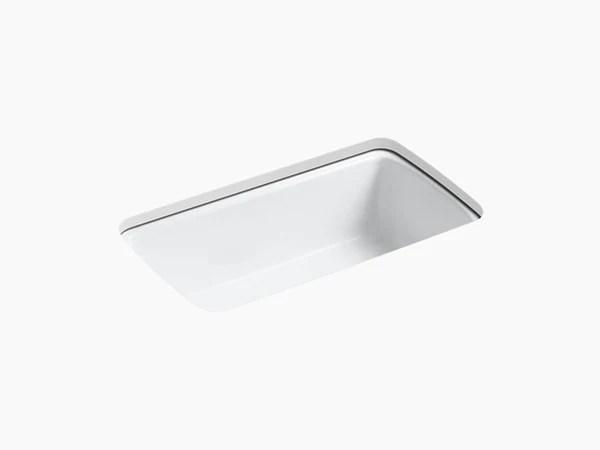 single bowl cast iron kitchen sink countertop decorating ideas pictures kohler k 5864 5u cape dory 33 undermount