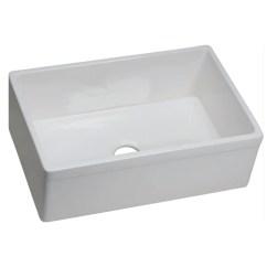 Elkay Kitchen Sinks Gray Chairs Fireclay Farmhouse Sink 29 7 8 Single Bowl Swuf28179 Swuf28179wh