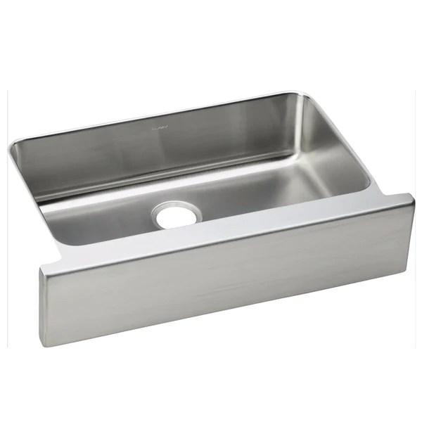 elkay kitchen sinks light stainless farmhouse sink 33 lustertone single bowl steel eluhfs2816