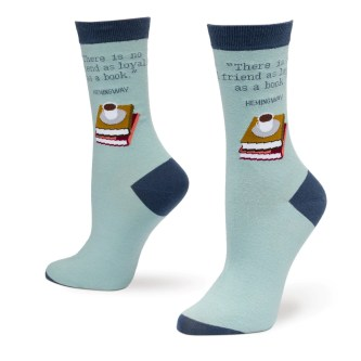 Image result for there is no friend as loyal as a book socks