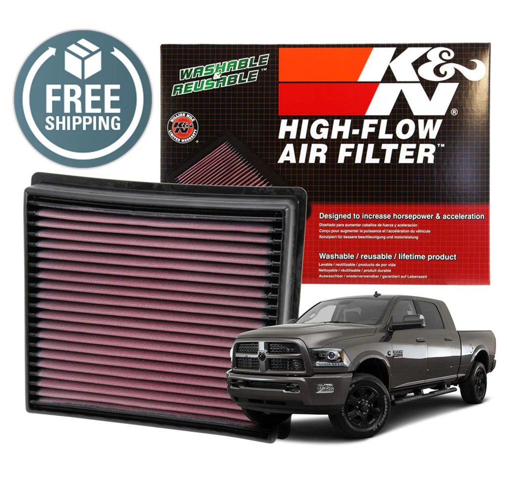 hight resolution of k n replacement air filter 2013 2018 ram 2500 3500 6 7l cummins diesel 33