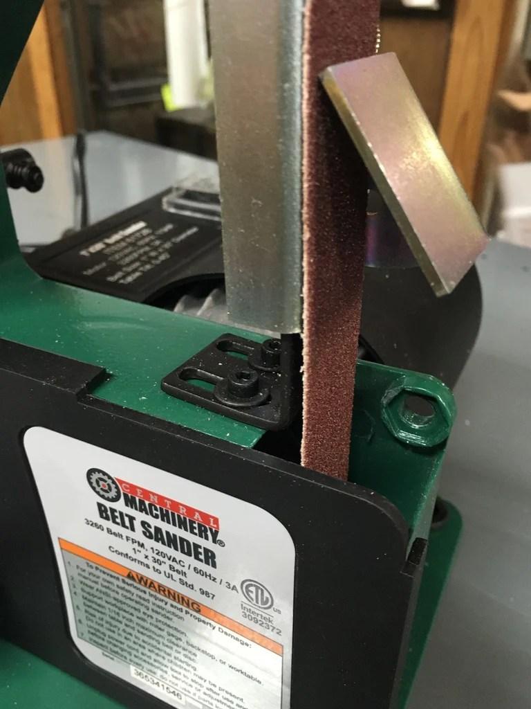 Belt Sander Knife Sharpening Jig