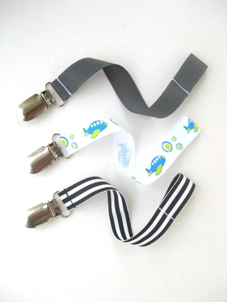 baby boy pacifier clip
