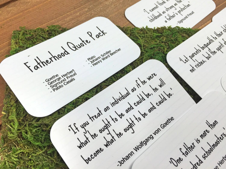 fatherhood quote pack set