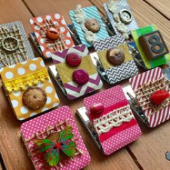 Kitchen Magnets Refinish Countertop Decorated Refrigerator Magnet Clip Whimsicals Paperie Clips Strong Homeschool Decor Cute Fridge