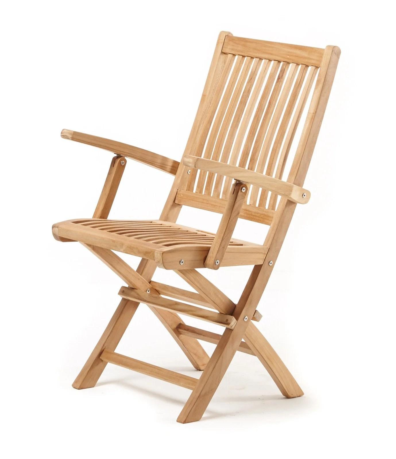 fancy folding dining chairs wicker arm leo armchair  the teak place