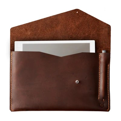Handmade Draftsman 5 reMarkable Tablet Case  Tan by Capra Leather