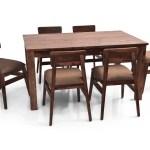 Leo Ryder 6 Seater Dining Set In Teak Finish Fq Furniture