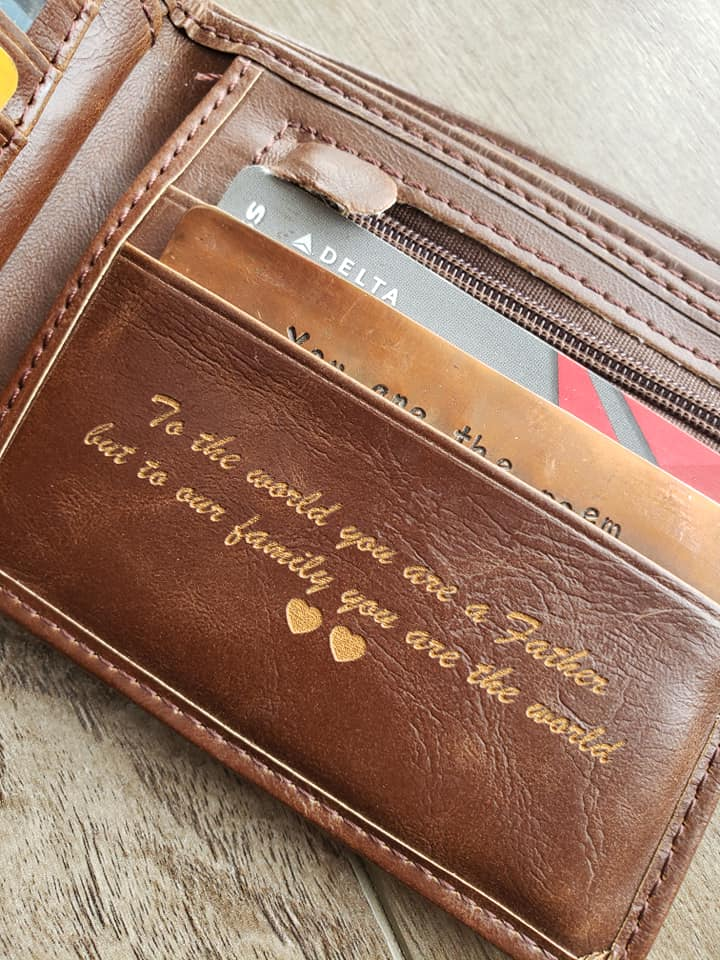 personalized leather wallets worlds