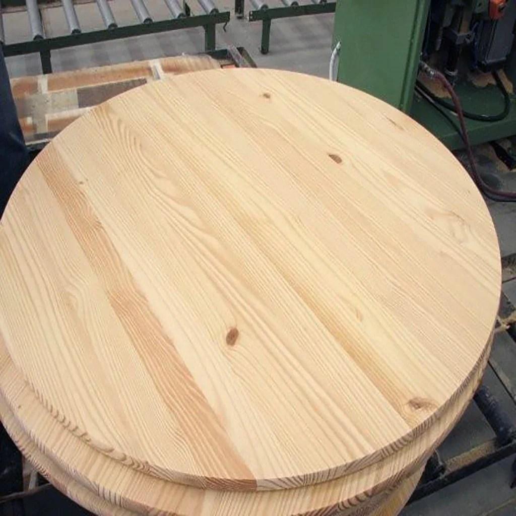round pine edge glued board