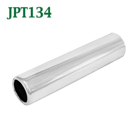 jpt134 1 75 chrome round pencil exhaust tip 1 3 4 inlet 2 outlet 8 long