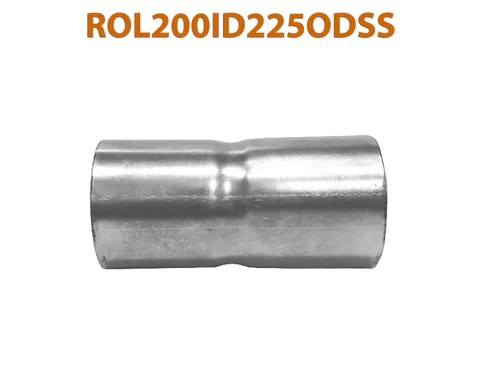 rol200id225odss 648222 2 id to 2 1 4 od stainless steel exhaust pipe to component adapter reducer