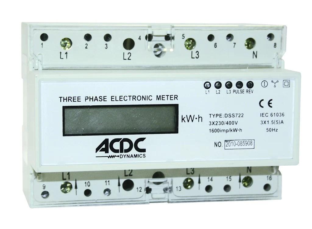 Wire Diagram Of Energy Meter 1 5 5 A Digital 3 Phase 400v N Kwh Meter Acdc Dynamics