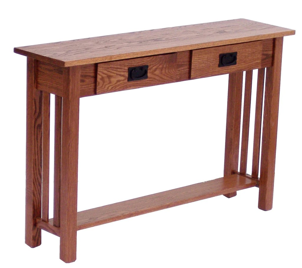 mission style oak sofa table sofas sectional  crafts inc