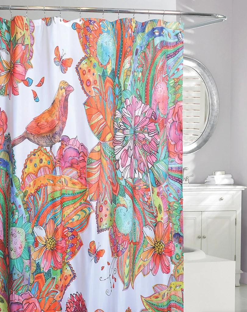 moda shower curtain art journal fabric multi