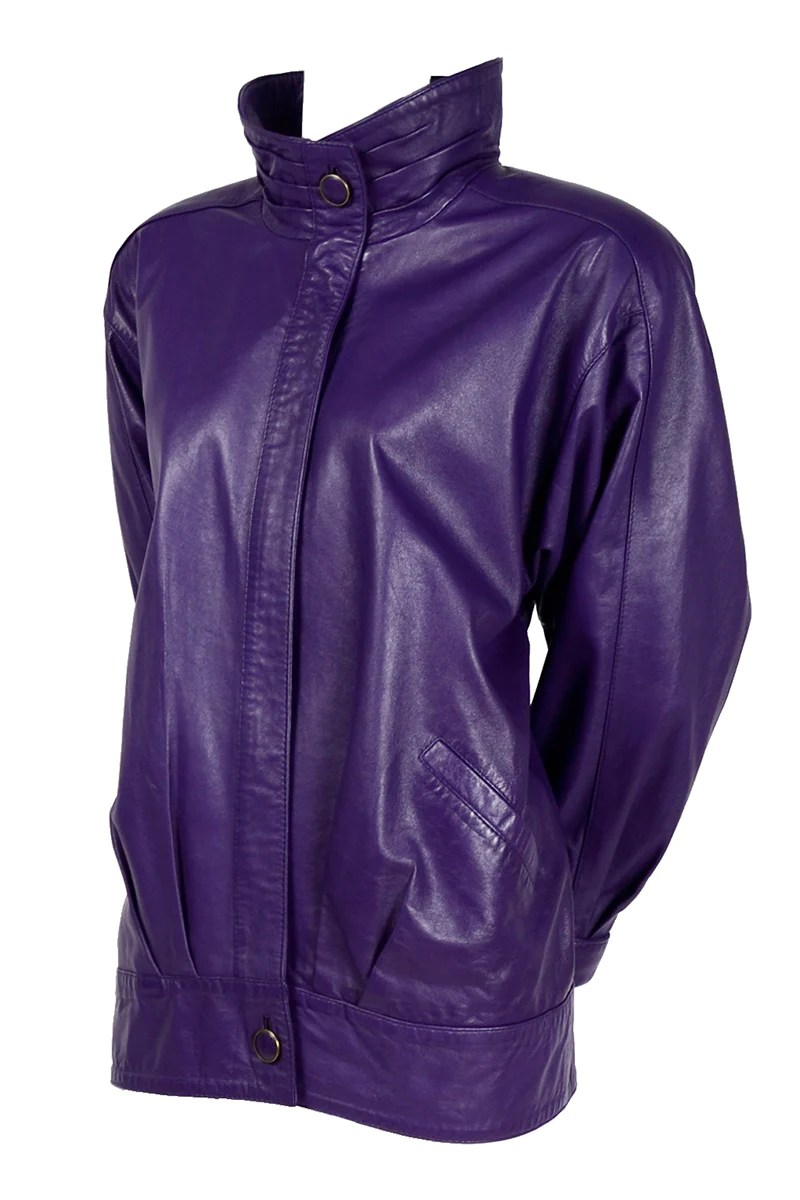 1980 s purple leather