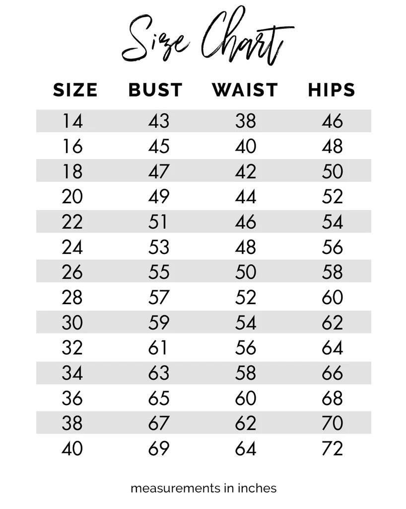 Be size wise also chart for sydney   closet plus wedding prom formal dresses rh sydneyscloset