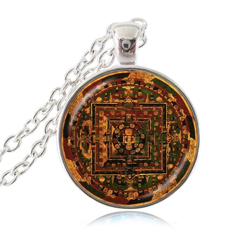 Sri Yantra Necklace Sacred Geometry - Year of Clean Water