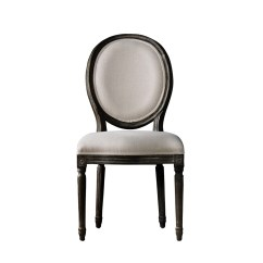 Black Side Chair Bath Chairs For Elderly South Africa Antique Vintage White French Round Dining Curations Limited Louis