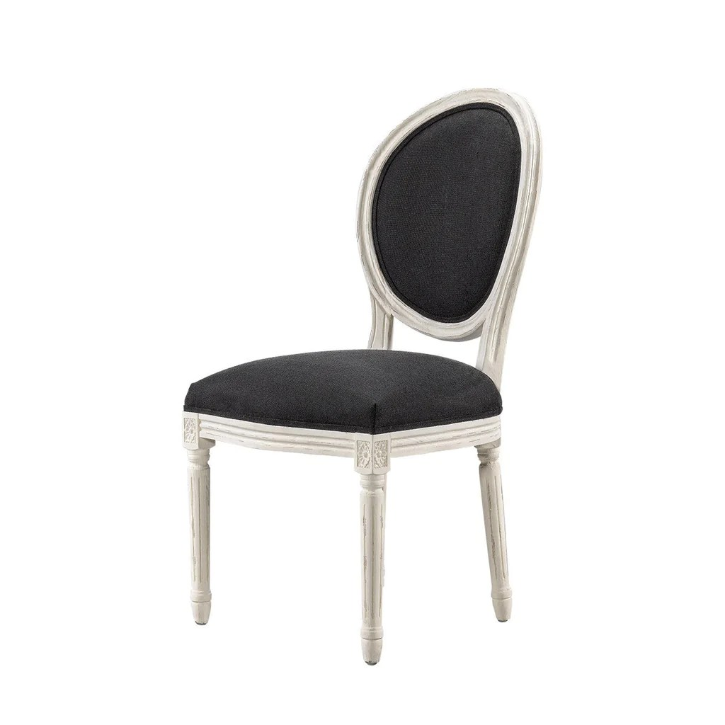 retro white chair iron chairs outdoor curations limited vintage louis round finish