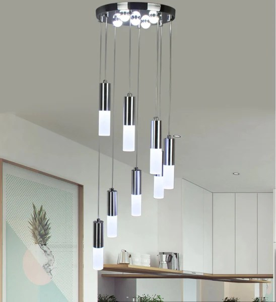 24W LED Pendant lights Modern Kitchen acrylic suspension