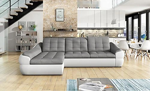 leather and fabric sofa in same room light gray bmf infinity mini white grey faux corner bed josef s furniture