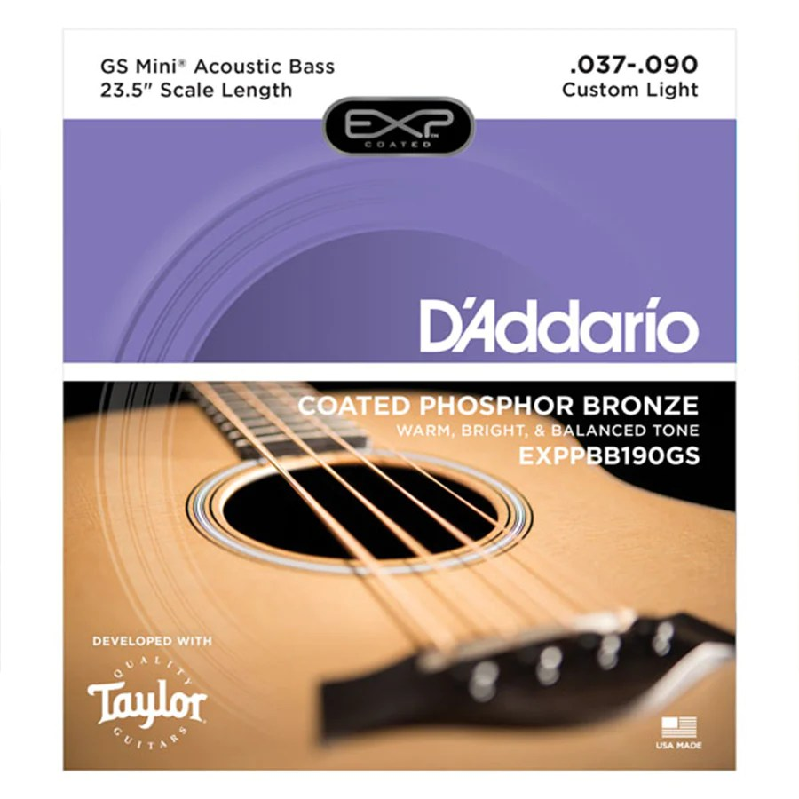 small resolution of d addario coated phosphor bronze strings for taylor gs mini acoustic bass 37