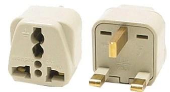 grounded universal plug adapter