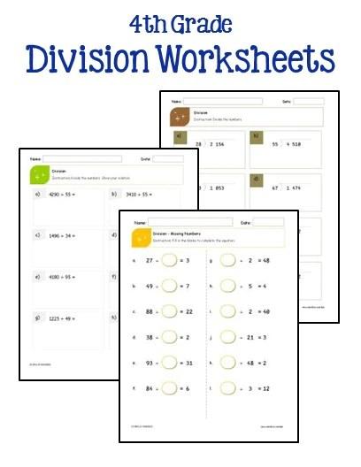 Division Lessons For 4th Grade - Favorite Worksheet