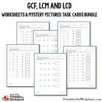 GCF, LCM and LCD Task Cards and Worksheets Bundle ...