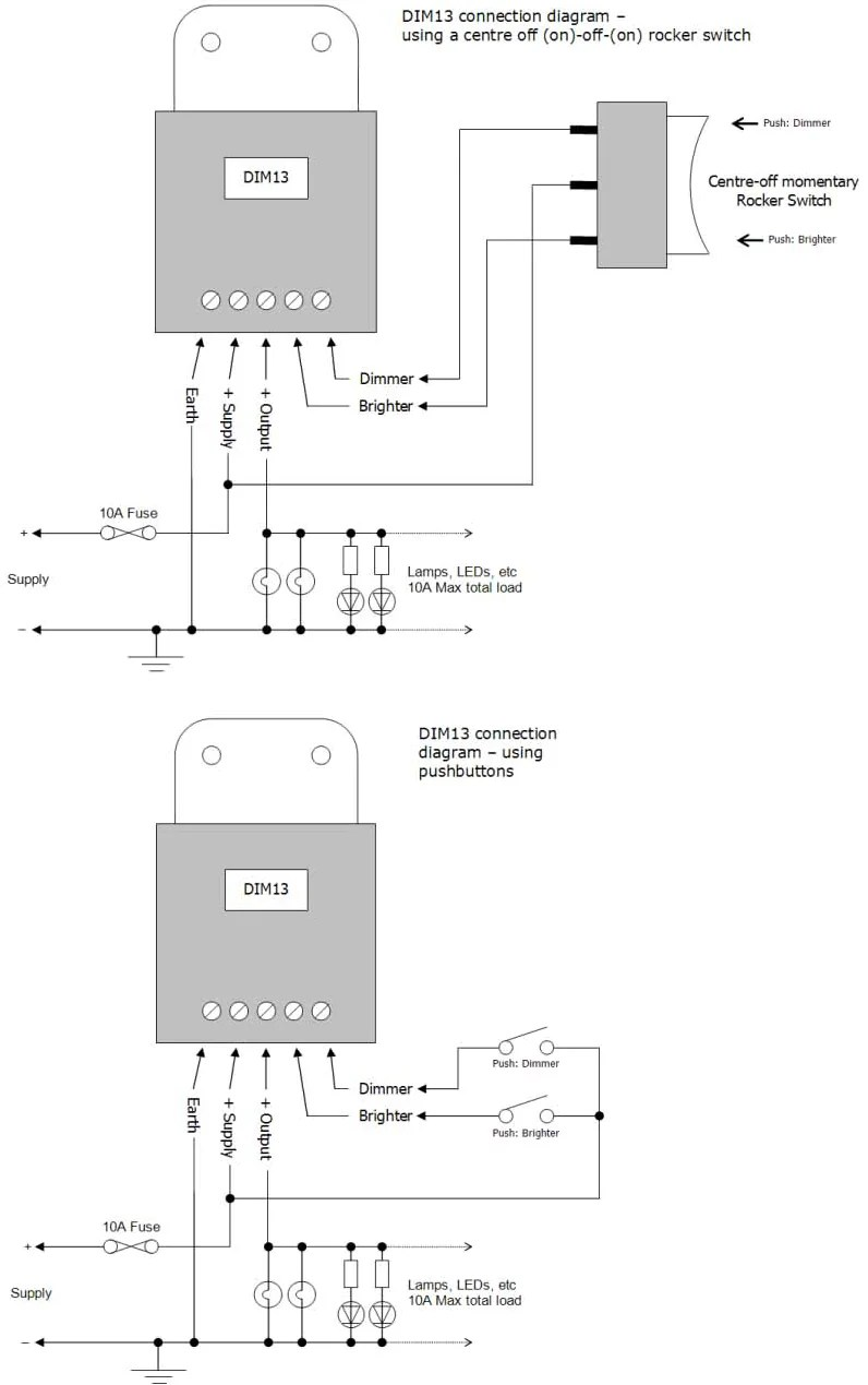 medium resolution of led marine pmw dimmer connection diagrams