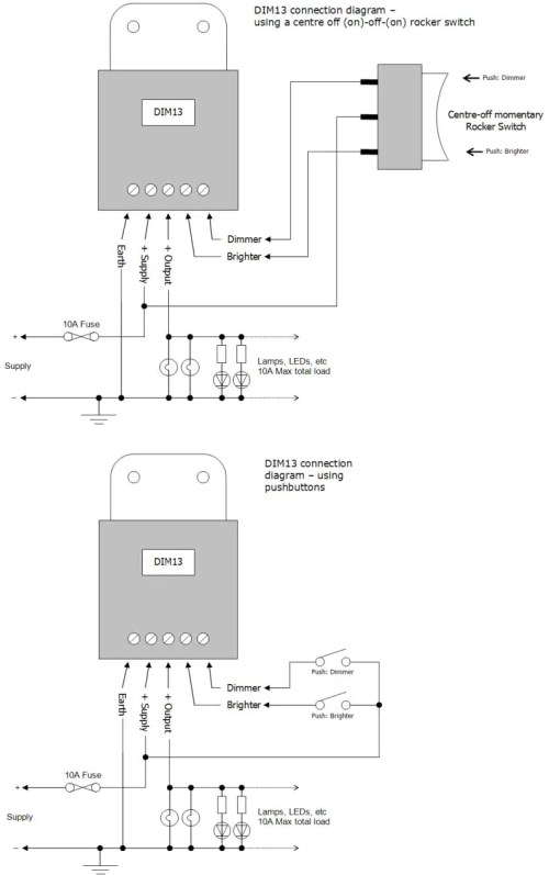 small resolution of led marine pmw dimmer connection diagrams