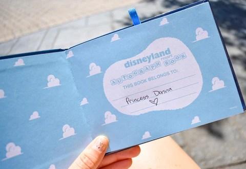 Pixar Autograph Book for Disneyland