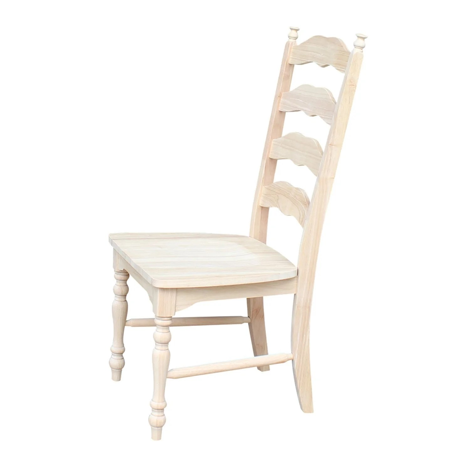 Maine Ladderback Chair with Upholstered Seat  Free