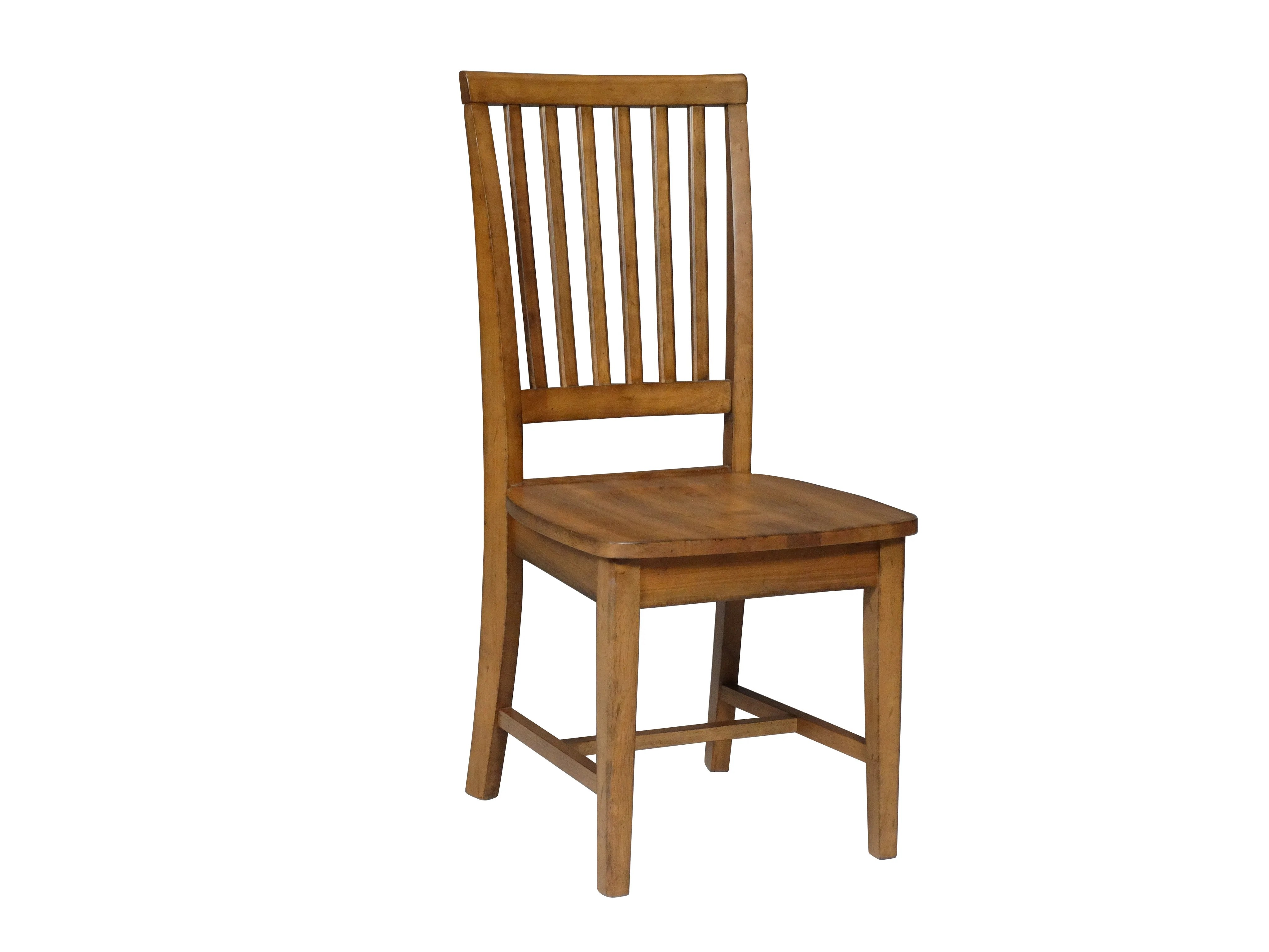 unfinished dining chair wicker wingback pier one mission hardwood side 2 pack free shipping