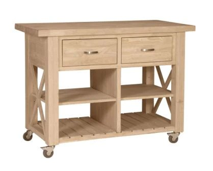 unfinished kitchen cart new designs x side island wc 12 free shipping furniture expo