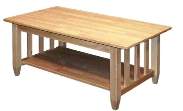 hardwood mission coffee table 42