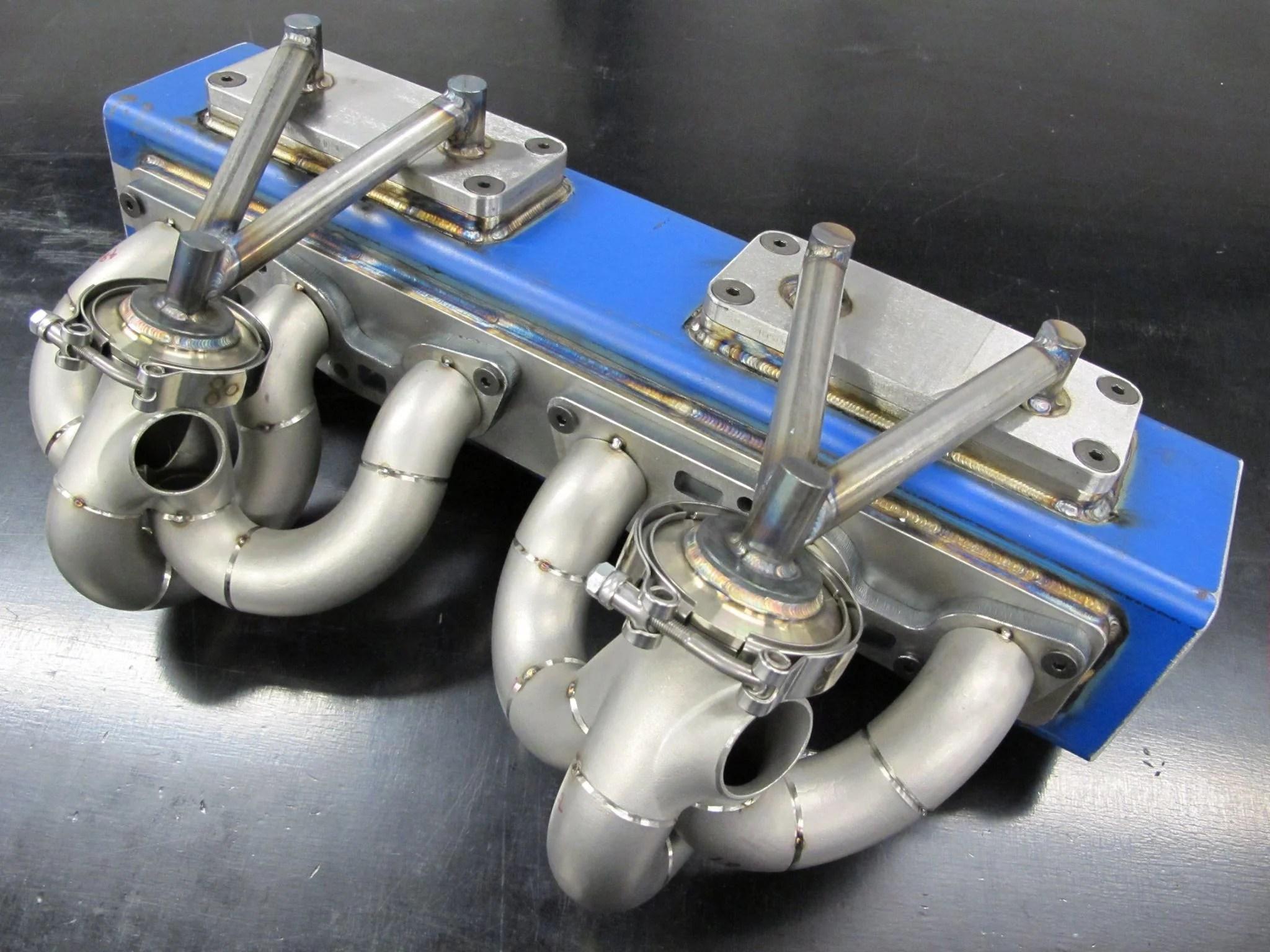 hypertune hypex rb26dett twin high mount exhaust manifold [ 2048 x 1536 Pixel ]