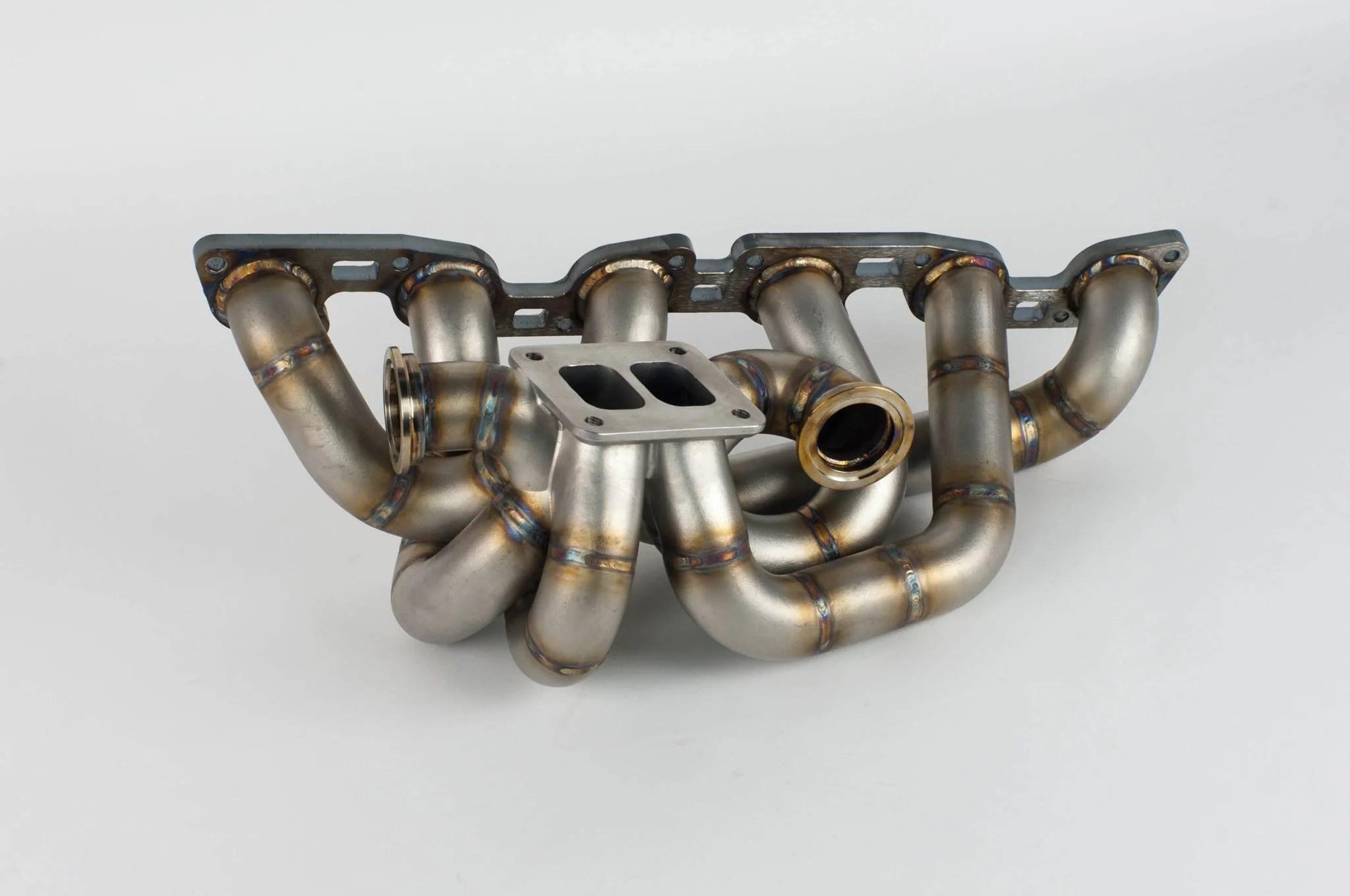 medium resolution of twin turbo exhaust manifold
