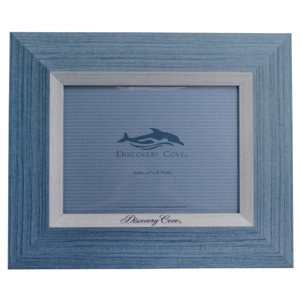 Discovery Cove Blue 6 x 8 Photo Frame  SeaWorld Shop