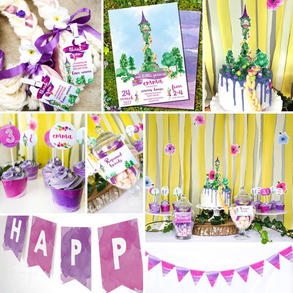rapunzel birthday party set rapunzel party invitation and decorations