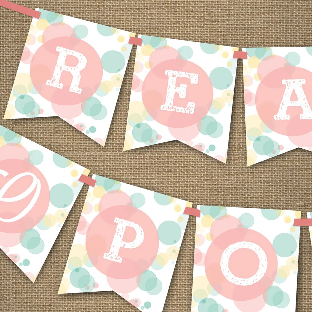 Ready To Pop Baby Shower Banner