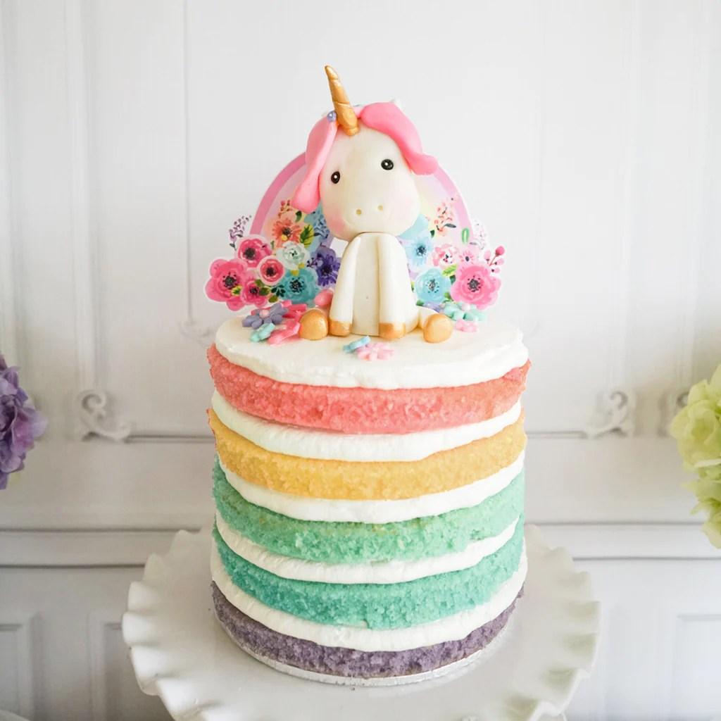 Unicorn Birthday Party Cake Topper Unicorn Cake Topper Gold